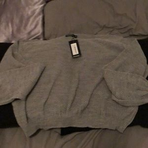 Grey nasty gal sweater new with tags
